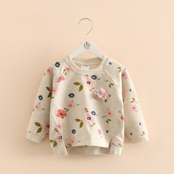 Toddler Girl Flower Print Long Sleeve Top