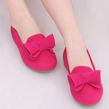 Bow Ballerina Flat Shoes for Kids Girls