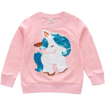 Toddler Kid Girl Sequin Long Sleeve Top