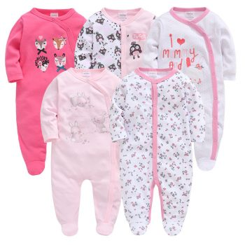 Baby Girl Cute Animal and Floral Pattern Pajamas