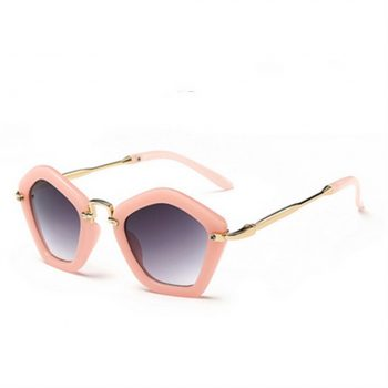 Toddler Girl Modern Pentagonal Sunglasses