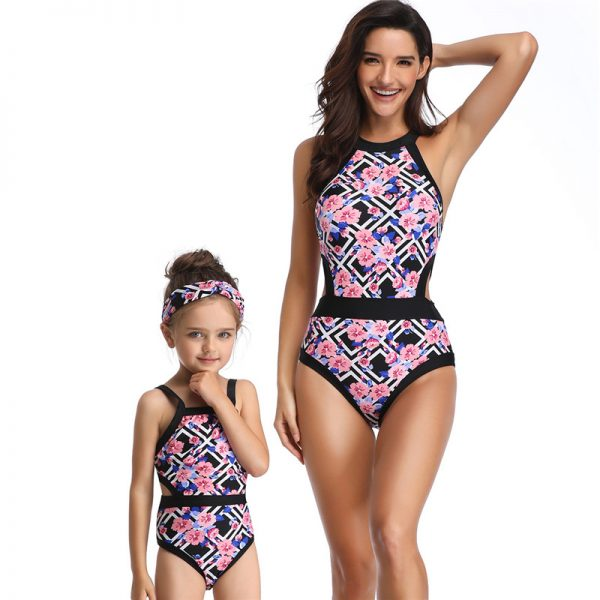 Matching Swimsuit Mother and Child