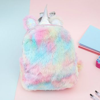 Unicorn Plush Backpack for Little Girl