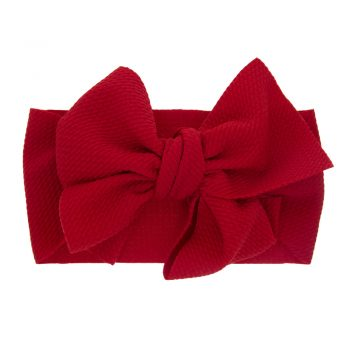 Baby Girl Newborn Solid Colored Bow Headband