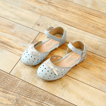 Toddler Girl Leather Bow Sandals