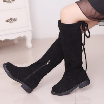 Kid Girl Fashion Over-Knee Bow Tie Boots