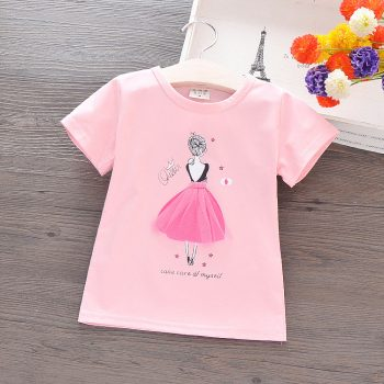 Toddler Girl Short Sleeve Printed Queen Lady Shirt
